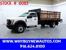2017_Ford_F450_~ Liftgate ~ 14ft. Stake Bed ~ Only 15K Miles!_ Rocklin CA