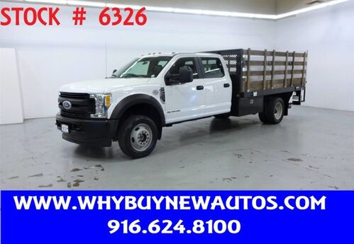 2017 Ford F550 ~ 4x4 ~ Diesel ~ Crew Cab ~ Liftgate ~ 13ft. Stake Bed ~ Only 42K Miles! Rocklin CA