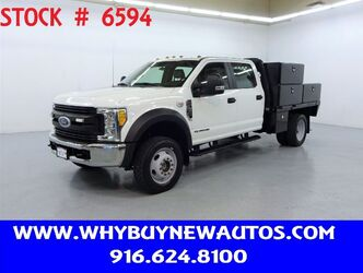 Ford F550 ~ 9ft. Flat Bed ~ 4x4 ~ Diesel ~ Crew Cab ~ Only 49K Miles! 2017