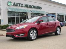 2017_Ford_Focus_Titanium Hatch, NAVIGATION, SUNROOF, LEATHER SEATS, SAT RADIO, REMOTE ENGINE START, PREMIUM STEREO_ Plano TX