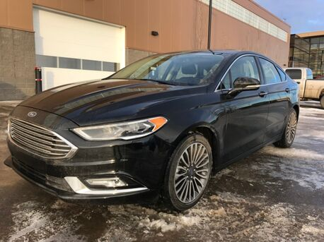 2017_Ford_Fusion_SE AWD ~ Lo Kms ~ Leather ~ Sunroof ~ Remaining Factory Warranty ~ Low as 169 B/W  888-299-8130_ Sherwood Park AB