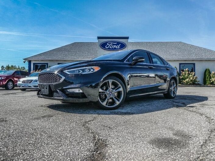2017 Ford Fusion SPORT- AWD- LOADED- LEATHER- NAVIGATION Essex ON