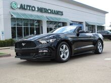 2017_Ford_Mustang_V6 Convertible CLOTH SEATS, BACKUP CAMERA, BLUETOOTH CONNECTIVITY, AUX/USB INPUT, KEYLESS START_ Plano TX