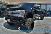 2017 Ford Super Duty F-350 Platinum / Ultimate Pkg / FX4 Off-Road / 4X4 / Turbo Diesel / FABTECH Lift Kit / IVD Shocks / 22in TIS Wheels / 37in NITTO'S / Auto Start / Heated & Cooled Leather Seats / Bed Liner / Tow Pkg / Block Heater / 1-Owner