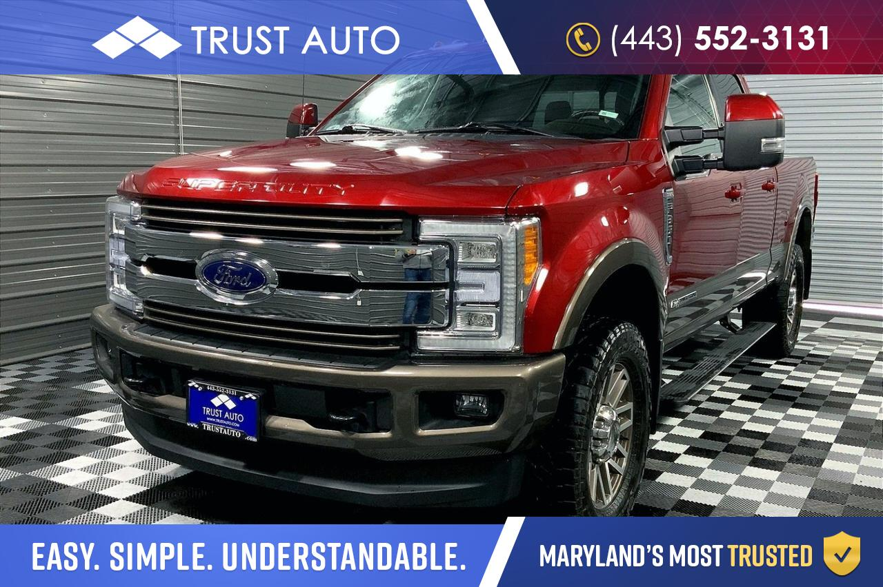 2017 Ford Super Duty F-350 SRW King Ranch 4WD FX4 Crew Cab Ultimate Package Pickup Truck Sykesville MD