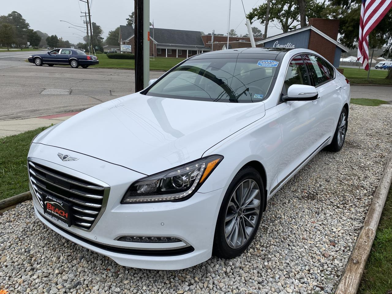 2017 GENESIS G80 WARRANTY, LEATHER, PANO ROOF, HEATED/COOLED SEATS, NAV, BLUETOOTH, CLEAN CARFAX! Norfolk VA