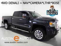 2017_GMC_Sierra 2500HD 4WD Crew Cab Denali_*6.6L DURAMAX, NAVIGATION, FORWARD COLLISION & LANE DEPARTURE ALERT, BACKUP-CAM, LEATHER, CLIMATE SEATS, APPLE CARPLAY, BLUETOOTH_ Round Rock TX