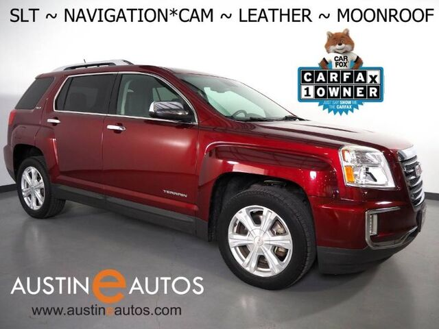 2017 GMC Terrain SLT *NAVIGATION, BLIND SPOT ALERT, BACKUP-CAMERA, MOONROOF, LEATHER, HEATED SEATS, POWER LIFTGATE, BLUETOOTH Round Rock TX