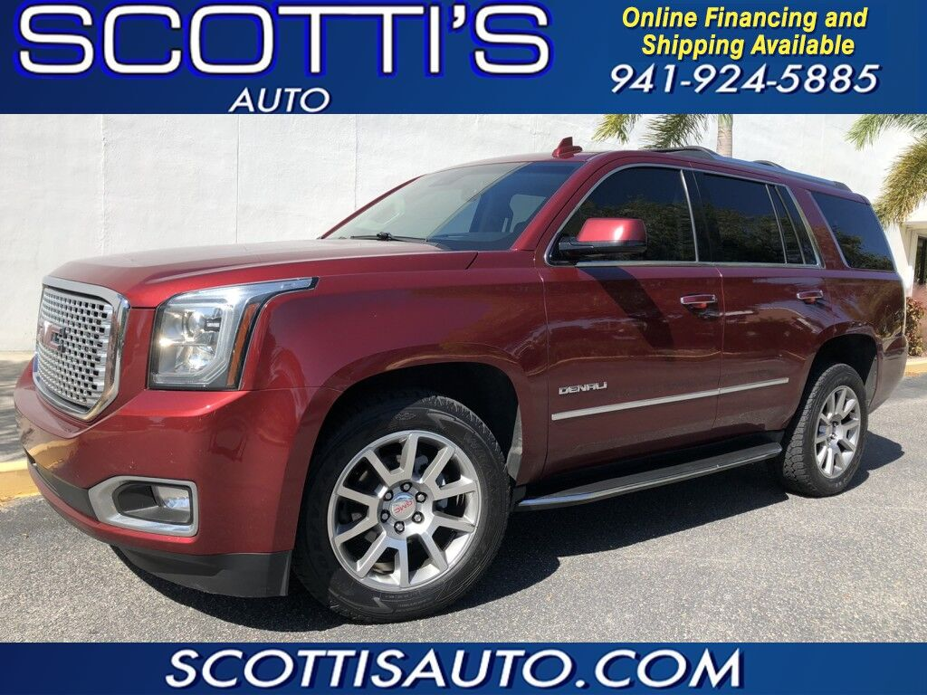 2017 GMC Yukon Denali~4WD~NAVIGATION~CAMERA~ TOW PACKAGE~ CLEAN CARFAX~ 3RD ROW SEAT~ LOADED~ ONLINE FINANCE AND SHIPPING AVAILABLE! BEAUTIFUL COLOR~ONLINE FINANCE AND SHIPPING AVAILABLE! APPLY TODAY! Sarasota FL
