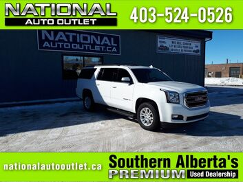 GMC Yukon XL - APPLE ANDROID CAR PLAY - 2 DVD PLAYERS- HEATED LEATHER FRONT AND BACK SLT Lethbridge AB
