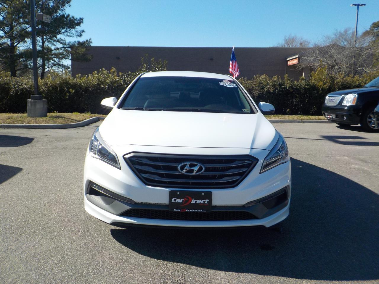 2017 HYUNDAI SONATA SPORT 2.0T, ONE OWNER, LEATHER HEATED SEATS, BLUETOOTH, BACKUP CAMERA, ONLY 46K MILES! Virginia Beach VA