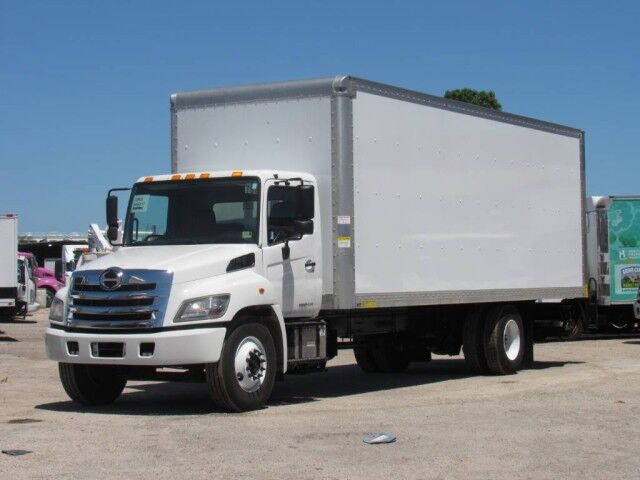 2017 Hino 268A 26 Dry Box Truck with 2500 Lb Lift Gate Miami FL