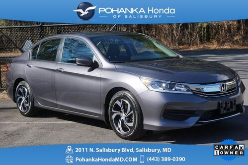 2017_Honda_Accord_LX ** 1 OWNER ** HONDA CERTIFIED 7 Year / 100,000 **_ Salisbury MD