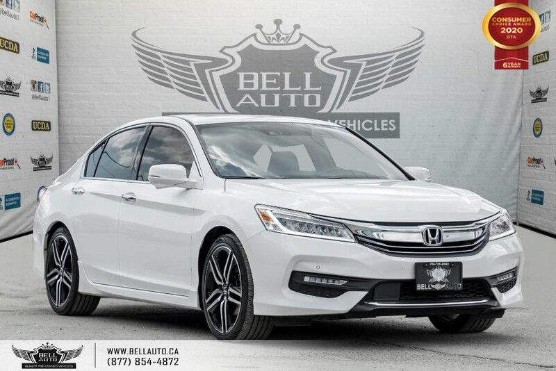 2017 Honda Accord Sedan Touring, V6, NO ACCIDENT, NAVI, REAR CAM, B.SPOT