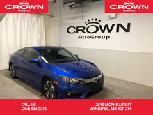 2017_Honda_Civic Coupe_EX-T w/Honda Sensing /EXECUTIVE DEMO/NO ACCIDENTS/APPLE CARPLAY/TURBOCHARGED/SUNROOF_ Winnipeg MB