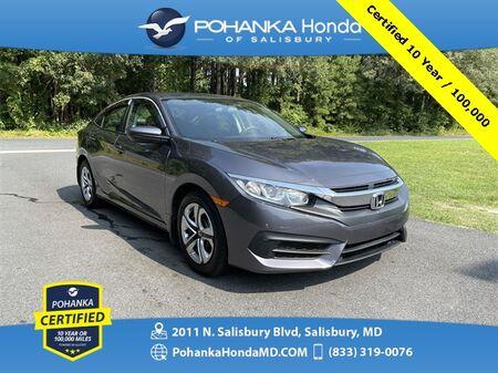 2017_Honda_Civic_LX ** Pohanka Certified 10 Year / 100,000_ Salisbury MD