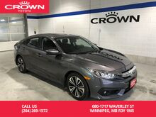2017_Honda_Civic Sedan_4dr CVT EX-T / Accident Free / Low Kms / Apple Carplay / Android Auto / Local / Lease Return / Immaculate Condition_ Winnipeg MB