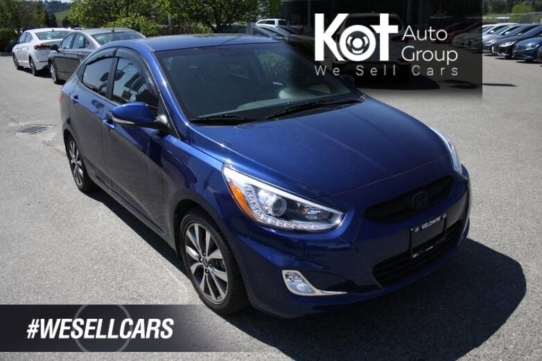 2017 Hyundai Accent GLS NO ACCIDENT! LOW KMS! SUNROOF! ALLOY WHEELS! Kelowna BC