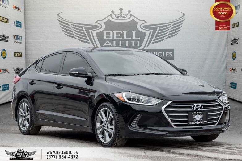 2017 Hyundai Elantra GLS, REAR CAM, B.SPOT, SUNROOF, PUSH START Toronto ON