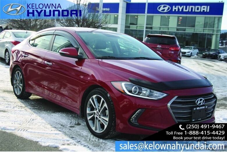 2017 Hyundai Elantra Limited Keyless entry,Backup cam, Leather, sunroof Penticton BC