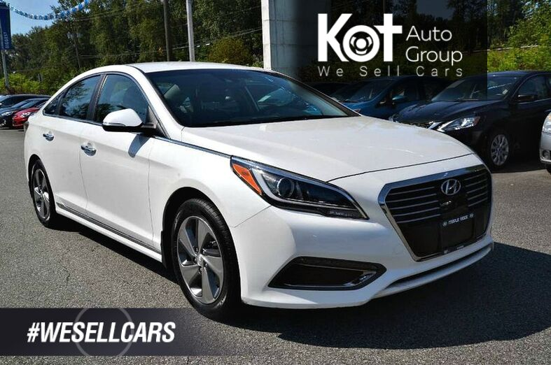 2017 Hyundai Sonata Plug-In Hybrid 4dr Sdn Ultimate w/Colour Pack. Front and back collision warning! Heated steering wheel! Local unit! Kelowna BC