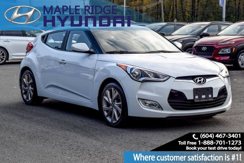 2017 Hyundai Veloster Power Group, Alloy Wheels, Bluetooth, Local car, Clean Maple Ridge BC