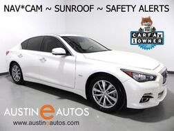 2017_INFINITI_Q50 3.0t Premium_*NAVIGATION, BLIND SPOT ALERT, COLLISION WARNING w/BRAKING, SURROUND CAMERAS, LEATHER, MOONROOF, HEATED SEATS/STEERING WHEEL, BOSE AUDIO, BLUETOOTH_ Round Rock TX