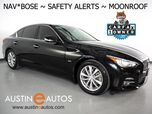 2017 INFINITI Q50 3.0t Premium *NAVIGATION, COLLISION ALERT w/BRAKING, BLIND SPOT ALERT, SURROUND VIEW CAMERAS, CROSS TRAFFIC ALERT, MOONROOF, HEATED SEATS, BOSE AUDIO, BLUETOOTH