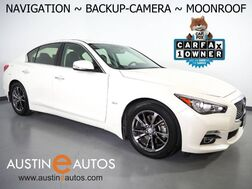 2017_INFINITI_Q50 3.0t Signature Edition_*NAVIGATION, BACKUP-CAMERA, DUAL TOUCH SCREEN, MOONROOF, STEERING WHEEL CONTROLS, GRAPHITE CHROME WHEELS, BLUETOOTH PHONE & AUDIO_ Round Rock TX