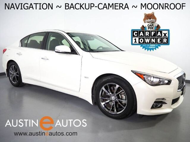 2017 INFINITI Q50 3.0t Signature Edition *NAVIGATION, BACKUP-CAMERA, DUAL TOUCH SCREEN, MOONROOF, STEERING WHEEL CONTROLS, GRAPHITE CHROME WHEELS, BLUETOOTH PHONE & AUDIO Round Rock TX