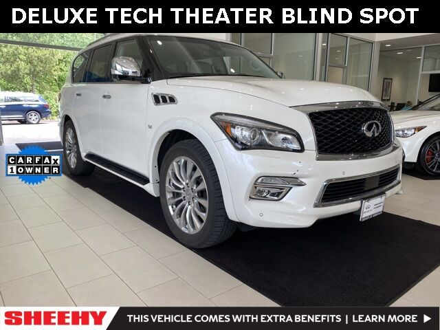 2017 INFINITI QX80 AWD  DELUXE TECH THEATER DRIVER ASSIST Annapolis MD