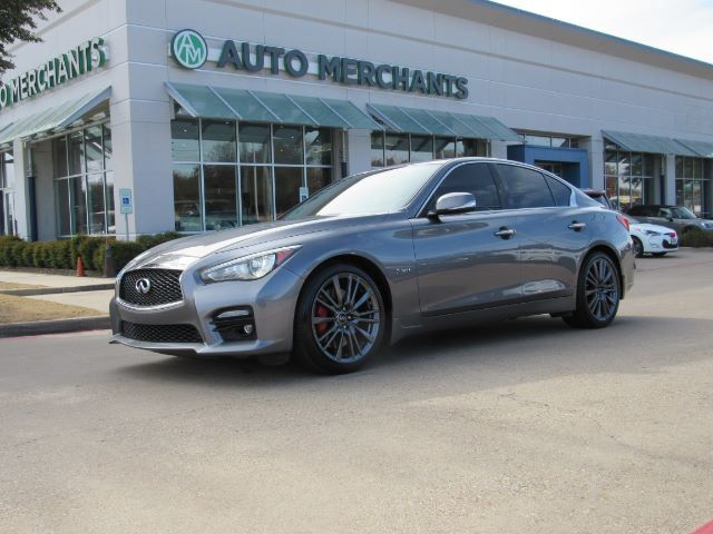 2017 Infiniti Q50 Red Sport 400 3.0T Sport Premium Plus Package  AUTOMATIC, LEATHER SEATS, SUNROOF, NAVIGATION Plano TX