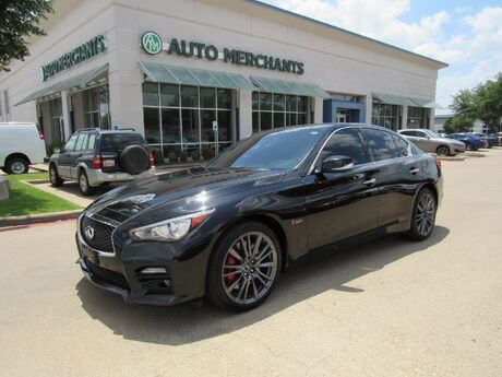 2017 Infiniti Q50 Red Sport 400 AWD *Driver Assistance Package* NAVIGATION, HTD FRONT STS, BLIND SPOT MONITOR Plano TX