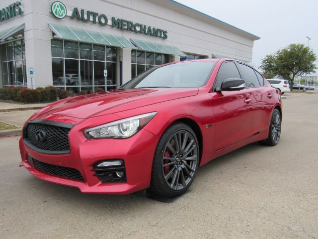 2017 Infiniti Q50 Red Sport 400 ***Driver Assistance Package, MSRP $58,520.00*** Sun/Moonroof, Quilted Havana Seats Plano TX