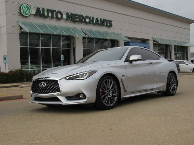 2017 Infiniti Q60 Red Sport 400  LEATHER SEATS, NAVIGATION, HEATED FRONT SEATS, BLIND SPOT MONITOR, LANE DEPARTURE Plano TX