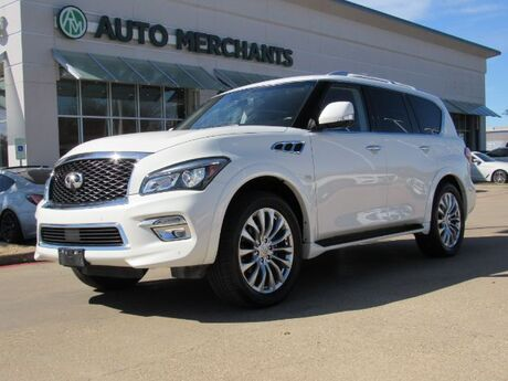 2017 Infiniti QX80 2WD  NAVIGATION, ENTERTAINMENT SYSTEM, SUNROOF, 360 DEGREE CAMERA, HEATED FRONT AND REAR SEATS Plano TX