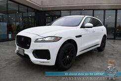 2017_Jaguar_F-PACE_S / AWD / Supercharged / Heated & Cooled Leather Seats / Heated Steering Wheel / HUD / Adaptive Cruise Control / Lane Departure & Blind Spot Alert / Panoramic Sunroof / Navigation / Meridian Speakers / 23 MPG_ Anchorage AK