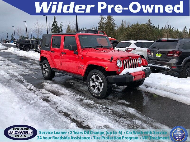 2017 Jeep Wrangler 4d Convertible Sahara Port Angeles WA