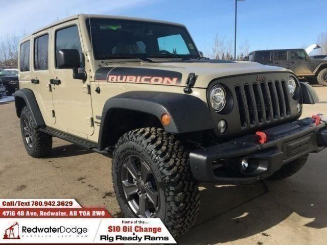 Awesome 2017 Jeep Wrangler Unlimited Rubicon Recon Demo Automatic 2 Tops Redwater  AB ...