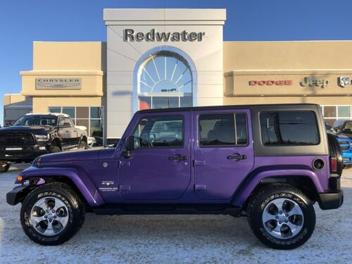 2017_Jeep_Wrangler Unlimited_Sahara - 3.6L Engine - Remote Start - GPS Navigation_ Redwater AB