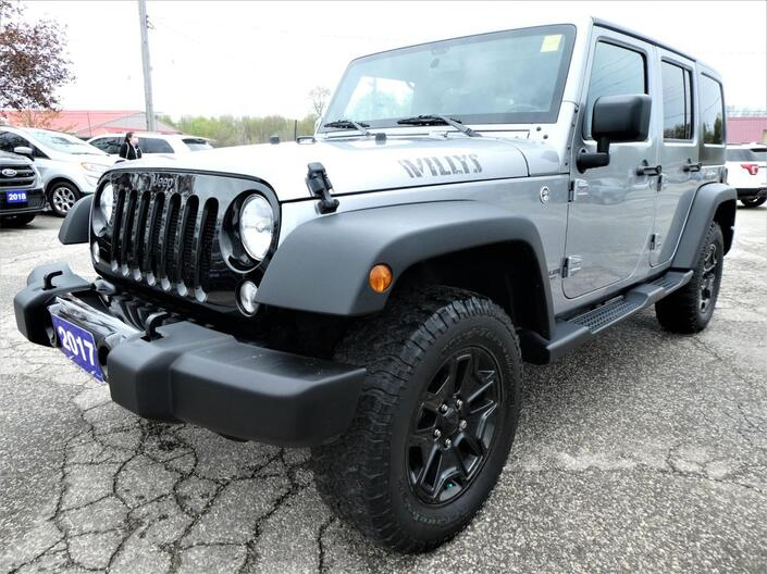 2017 Jeep Wrangler Unlimited Willys Wheeler | Big Screen | Bluetooth | Cruise Control Essex ON