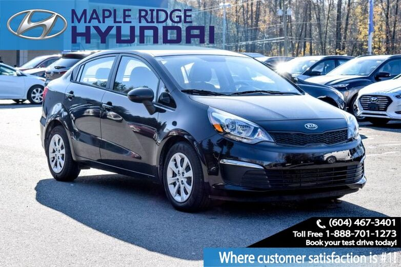 2017 Kia Rio LX+, Blue Tooth, Alloy Wheels, Power Group, Air Conditioning Maple Ridge BC