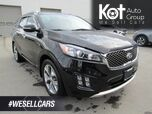 2017 Kia Sorento SX V6, 7 Seats, Heated/Cooled Leather Seats & Steering Wheel, Na