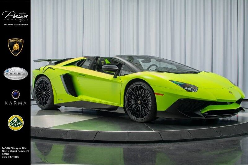 2017 Lamborghini Aventador Sv Roadster North Miami Beach Fl 22173861