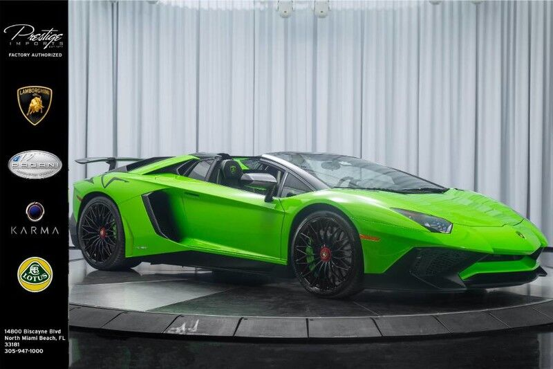 2017_Lamborghini_Aventador_SuperVeloce Roadster_ North Miami Beach FL