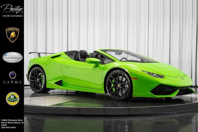 2017_Lamborghini_Huracan_LP 610-4 Spyder_ North Miami Beach FL