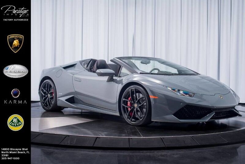 2017_Lamborghini_Huracan_Spyder LP 610-4_ North Miami Beach FL
