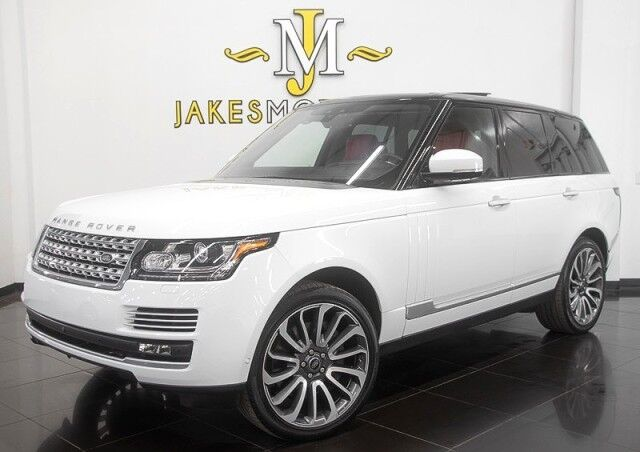 2017 Land Rover Range Rover Autobiography ($145,890 MSRP) *WHITE ON RED* EXECUTIVE SEATING San Diego CA