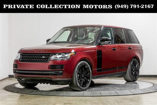 2017 Land Rover Range Rover HSE Blackout Package Costa Mesa CA