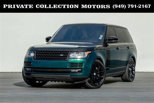 2017 Land Rover Range Rover Supercharged Paint to Sample $116,165 MSRP Costa Mesa CA